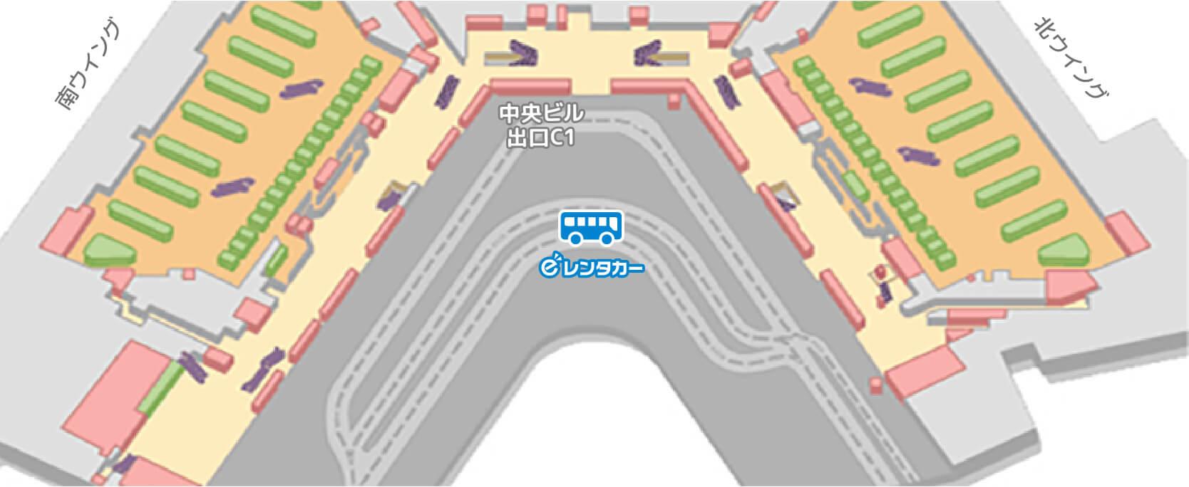 第一ターミナルバス停車位置