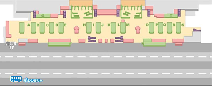 第二ターミナルバス停車位置
